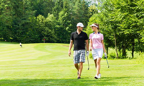 Couple on golf course